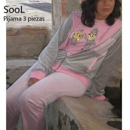 3 PIECES VELOUR PAJAMA STYLE 529