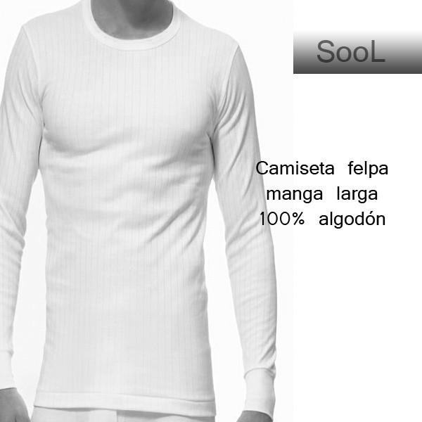 Camiseta caballero felpa manga larga 133