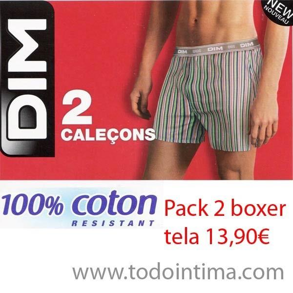 Pack 2 boxers  de tela Dim D018V