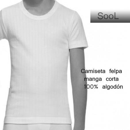 Camiseta felpa manga corta 139
