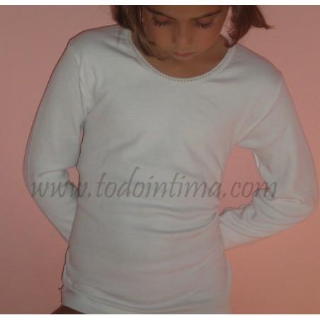 Camiseta niña de felpa y manga larga Sool Ref.140