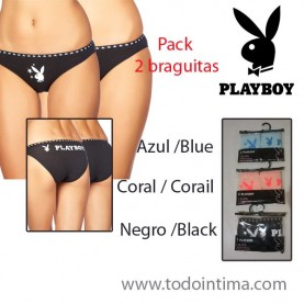 Pack 2 playboy briefs G017T