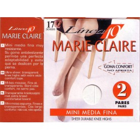 Pack 2 pares mini media Marie Claire 2110