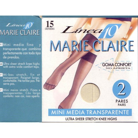 Pack 2 pares mini medias Marie Claire 2610