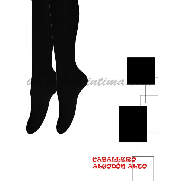 Pack 2 pares calcetines altos  algodón 303