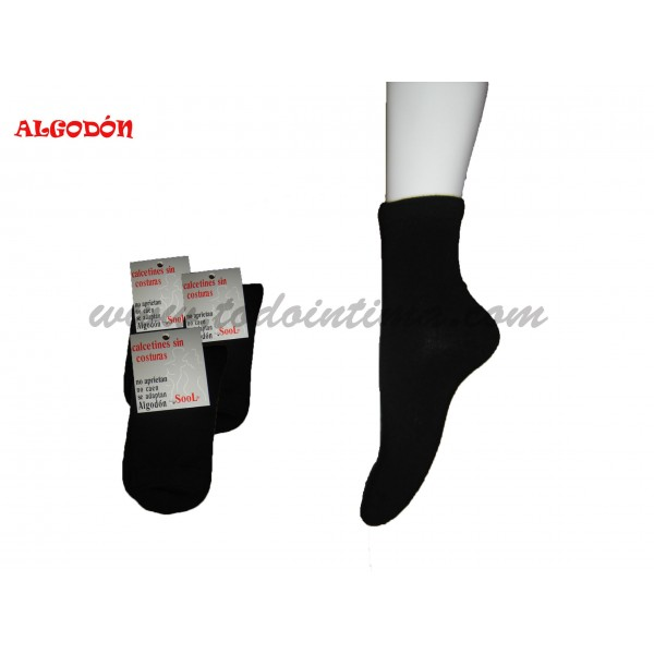 Pack 3 pair cotton lady socks 401