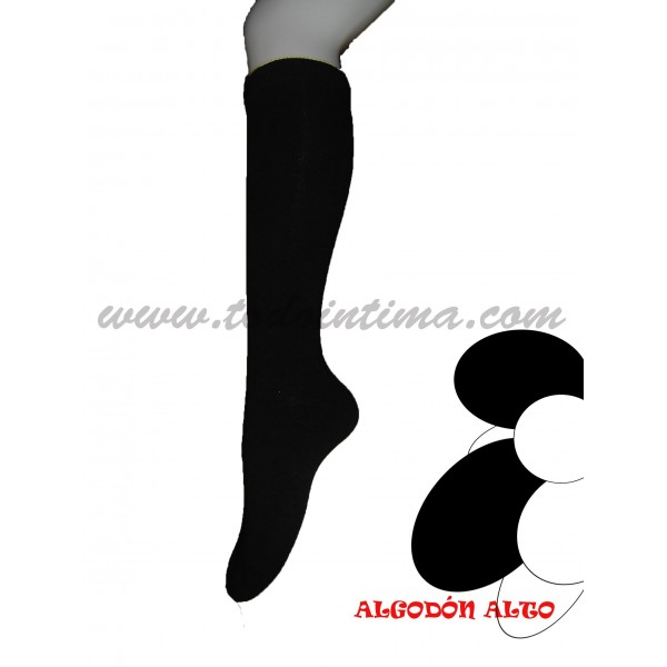 Pack 2 pares calcetín alto algodón Sool 403