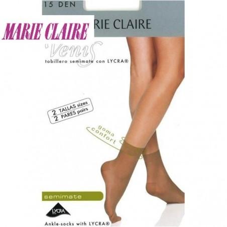 Pack 2 Pares Mini Media Tobillera Marie Claire