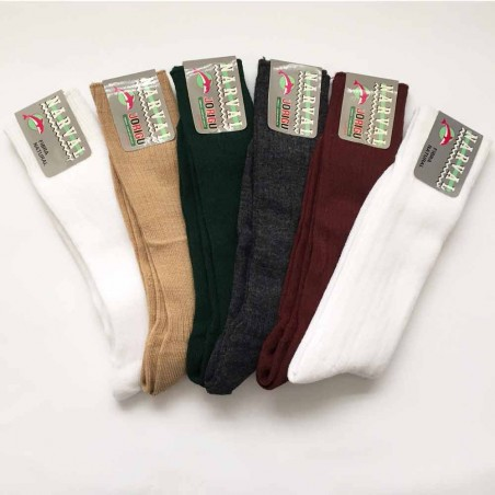 Pack 6 natural fiber socks style Marval