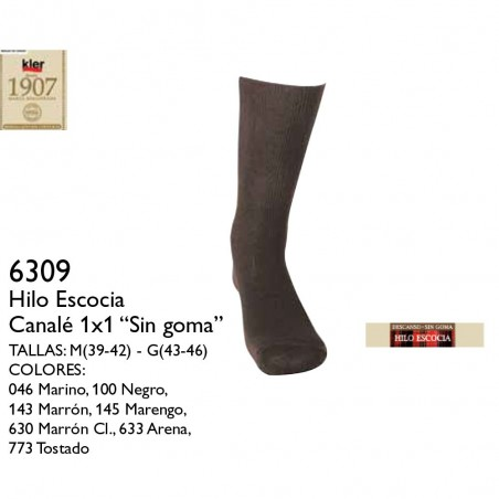 calcetines oler hilo de escocía 6309