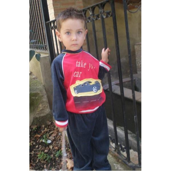Pijama terciopelo niño Sool Ref. 602B