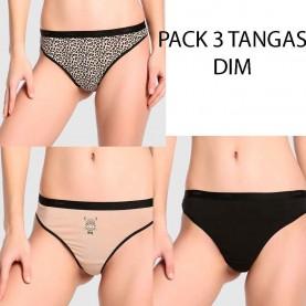 Pack 3 tangas Dim D4C19
