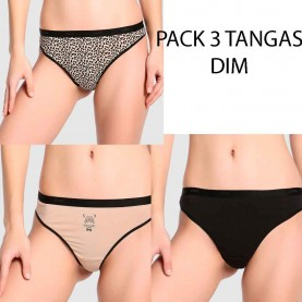 Pack 3 thongs Dim D4C19