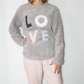 Pijama Peluche Love F-810