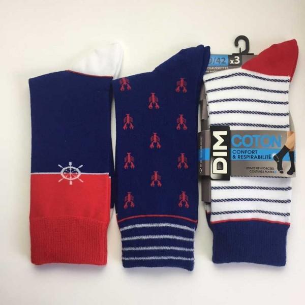 Pack 2 pair Dim chaussettes D05UP