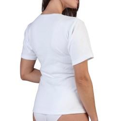 Camiseta felpa señora manga corta 134