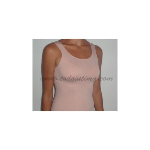 Camiseta tirante ancho sin costuras 119