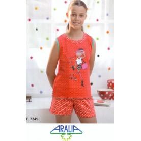 Pajama without sleeves Aralia Style 7349